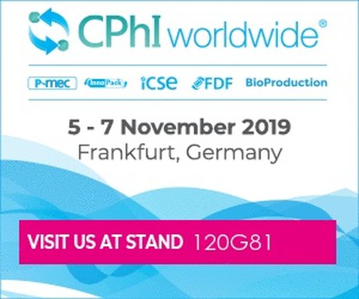 Visit our stand no. 120G81 at CPhI Frankfurt 2019!